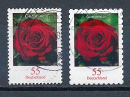 BRD Mi. 2669 + 2675 Gest. Blume Gartenrose - Roses