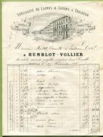 """JOINVILLE  (52) : """" MERCERIE - BONNETERIE  HUMBLOT-VOLLIER """"  1895 - France"""