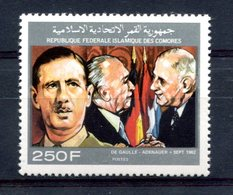 Thème Général De Gaulle - Comores Yvert 516 - Neuf Xxx - T 850 - De Gaulle (General)
