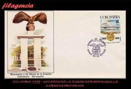 AMERICA. COLOMBIA SPD-FDC. 1979 350 AÑOS DE LA CIUDAD DE BARRANQUILLA - Colombie