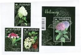 3333 Slowenien Slovenia 2019 ** MNH Flowers Flora Panicled Mountain Oakleaf Bigleaf Hydrangea - Végétaux