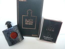 """YVES SAINT LAURENT :"""" BLACK OPIUM"""" MINI 7,5  ML EDP + CARTE  LIRE ET VOIR!! - Miniatures Womens' Fragrances (in Box)"""