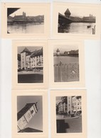 26943 Six 6 Photo Voyage Rhin Années 1960 - Suisse  Lucerne Schaffhouse -Allemagne Deuchland - Lieux