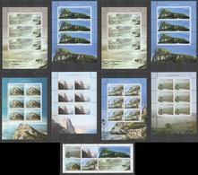 M197 GIBRALTAR VIEWS NATURE ARCHITECTURE BL133 !!! MICHEL 98 EURO !!! 1BL+8SH(7SET) MNH - Autres