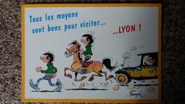 CPM LAGATTE GASTON FUTE 7209 FRANQUIN MARSU 1996 DALIX VISITER LYON CHEVAL TACOT - Comics