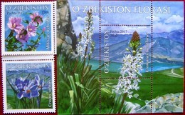 Uzbekistan  2017 Flora  S/S + 2 V MNH - Flora