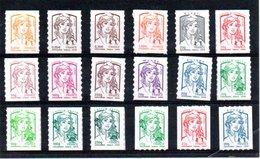 France:  Nouvelle Marianne  Y&T ** N 847 à 864 - 2013-... Marianne Of Ciappa-Kawena