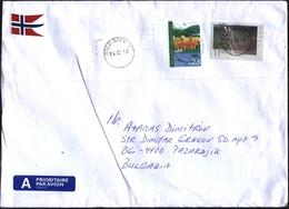 Mailed Cover With Stamps Oslo European Ecological Capital 2019, Fauna Deer 2009 From Nirway To Bulgaria - Norvège