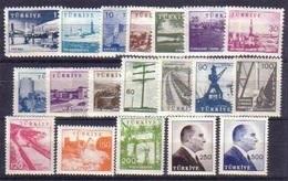 1959-1960 TURKEY PICTORIAL POSTAGE STAMPS MNH ** - 1921-... République