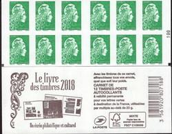 """CARNET Marianne De YSEULT YZ """"LE LIVRE DES TIMBRES 2018"""" Avec Double Carré Noir. Produit à Saisir. - Carnets"""