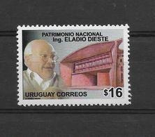 URUGUAY 2006, NATIONAL HERITAGE, ENGINEER ELADIO DIESTE, 1 VALUE, MNH - Uruguay