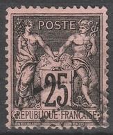 France  .    Yvert    .    91       .   O   .     Oblitéré   .   /   .    Cancelled - 1876-1898 Sage (Type II)