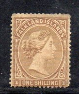 XP4635 - FALKLAND 1878 , 1 Scellino  Yvert N. 4  Nuovo  *  (2380A) .  Senza Filigrana. Poco Fresco - Falkland