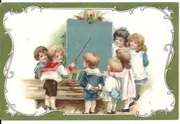 FANTAISIE. LE PREMIER DE LA CLASSE AU  TABLEAU NOIR... - Enfants