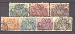 Belgique  -  Congo  :  Yv  185-91  (o) - Belgian Congo