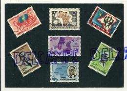 Carte Postale Représentant Une Sélection De Timbres-Poste De La République Du Congo 1960-61. Création Editions Rodan - Timbres (représentations)