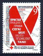 Macedonia 2016 AIDS, Red Cross, MNH - Croix-Rouge