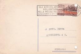STORIA POSTALE - FERRARA- CONSORZIO FARMACEUTICO FERRARESE -VIAGGIATA PER PINEROLO ( TORINO) - 6. 1946-.. Repubblica