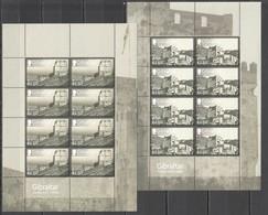 M199 2017 GIBRALTAR ARCHITECTURE EUROPA CASTLES #1772-3 !!! MICHEL 80 EURO !!! 2SH 10SET MNH - Châteaux