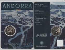 ANDORRA EMISIÓN EURO 2019 1 MONEDE DE 2,00€ COMMEMORATIUS FINALS DE LA COPA DEL MONT D'ESQUI ALPI. - Andorre