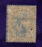 XP4636 - FALKLAND 1891 , 6 Pence  Yvert N. 13 Usato  (2380A) .  SPLENDIDO E CON FILIGRANA LETTERE - Falkland