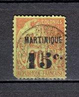 MARTINIQUE  N° 16    OBLITERE  COTE 150.00€    TYPE ALPHEE DUBOIS  VOIR DESCRIPTION - Martinica (1886-1947)