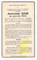 DP Im. Mort. - Jeanne Céline Spirlet ° 1874 † Retinne Fléron 1940 X Antoine Dor - Devotieprenten