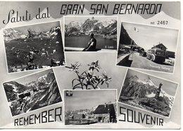 Saluti Dal GRAN SAN BERNARDO - REMEMBER - SOUVENIR - Tour Del Fous - Il Lago - Frontiera Italiana - Ospizio..... - Non Classificati