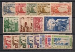 Soudan - 1940-42 - Poste Aérienne PA N°Yv. 1 à 17 - Série Complète - Neuf Luxe ** / MNH / Postfrisch - Soudan (1894-1902)