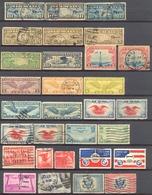 Etats Unis - 1926 -> 1939 - Joli Lot Poste Aérienne Avec Quelques Répétitions - Oblit. Nºs Dans Description - 1a. 1918-1940 Afgestempeld