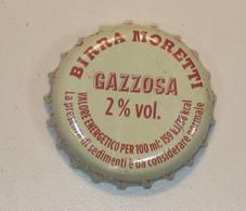 TAPPO A CORONA - USATO - BIRRA - MORETTI GAZZOSA 2 % - - Birra