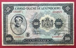 Luxembourg - Billet De Banque  100 Francs 1934 - Luxembourg