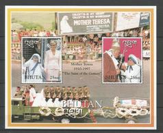 Bhutan 1998 Mother Teresa S/S Y.T. BF 365 ** - Bhoutan