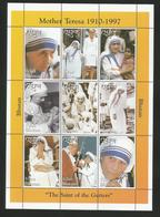 Bhutan 1998 Mother Teresa Sheet Y.T. 1264/1272 ** - Bhoutan
