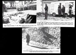Plogoff Quimper Finistère Bretagne 5 Cartes Incidents / Maintien De L'Ordre Contre La Centrale Nucléaire 1976 / 1980 - Plogoff