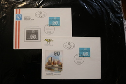 Austria UN United Nations 25th Anniversary Two Diff Covers Day Of Issue Cancel 1970 WYSIWYG A04s - FDC