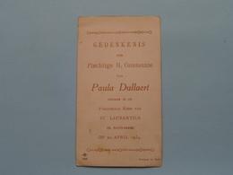 H. Communie Van Paula DULLAERT > Parochiale Kerk St. Laurentius Te Antwerpen Op 22 April 1934 ( NB 328 ) ! - Communion