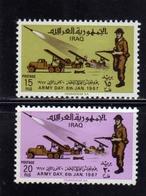 IRAQ IRAK 1967 ARMY DAY GIORNO DELLE FORZE ARMATE COMPLETE SET SERIE COMPLETA MNH - Iraq