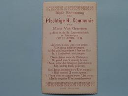 H. Communie Van Maria Van GEERTSOM > Kerk St. Laurentius Te ANTWERPEN Op 22 April 1934 ( Blindeman ) ! - Communion