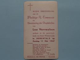 H. Communie Van Lea VERVECKEN > Kerk St. Waldetrudis Te HERENTALS Op 11 Mei 1947 ( L. De Peuter ) ! - Communion