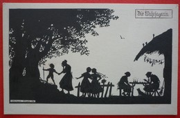 SILHOUETTE POSTCARD , ELSBETH FORCK, DIE WAHRSAGERIN , HEXE , WITCH - Siluette