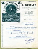 """PARIS  (75) : """" IVOIRE BRUT - L. GRILLET """" 1935  ( ELEPHANT ) - France"""
