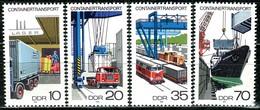 DDR - Mi 2326 / 2329 - ** Postfrisch (A) - Containertransport - [6] Repubblica Democratica