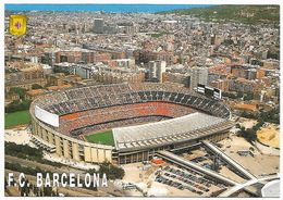 FOOTBALL FUTBOL  ESPAÑA  ESPAGNE  - Estadio Del F.C. BARCELONA Vista Aérea Vue Aérienne - Fútbol