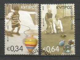 Cyprus / Zypern  Mi.Nr. 1325 / 26 A , EUROPA CEPT - Historisches Spielzeug  - Gestempelt / Used / (o) - Europa-CEPT