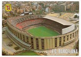 FOOTBALL FUTBOL  ESPAÑA  ESPAGNE  - Estadio Del F.C. BARCELONA Vista Aérea Vue Aérienne - Football