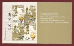 Cyprus / Zypern  Mi.Nr. 1325 / 26 Do+Du - Booklet , EUROPA CEPT - Historisches Spielzeug  - Gestempelt / Used / (o) - Europa-CEPT