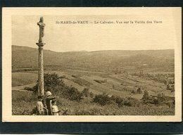 CPA - ST MARD DE VAUX - Le Calvaire, Animé - France