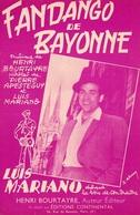 LUIS MARIANO - LE FANDANGO DE BAYONNE - 1955 - TRES BON ETAT - - Music & Instruments