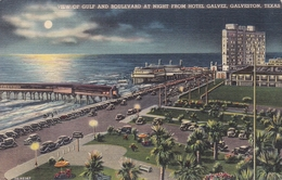United States Galveston The Gulf And Boulevard Postcard Unused Good Condition - Galveston